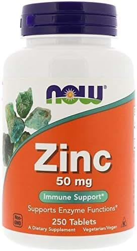 NOW Foods Zinc Gluconate 50 mg Tabs - 50 mg - 250 ct - 2 pk