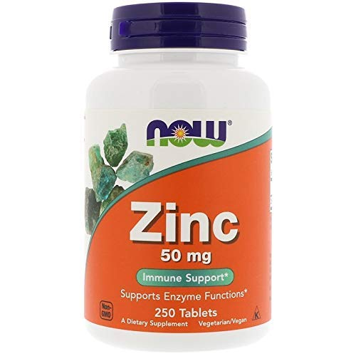 NOW Foods Zinc Gluconate 50 mg Tabs - 50 mg - 250 ct - 2 pk