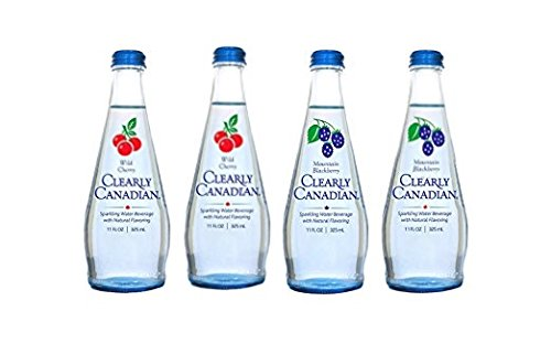 Clearly Canadian Sparkling Water 4 pack (2 Blackberry, 2 Cherry)