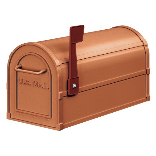 Salsbury Industries 4850A-COP Antique Rural Mailbox, Copper (Copper Mailbox)