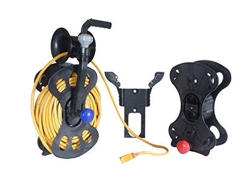 FreeReel - Heavy Duty Extension Cord Reel 100 ft 12/3, Air Hose Reel - Cord, Hose and Cable Storage Organizer - Includes 2 Storage Cassette Reel, 2 Precision Guide/Winder, 2 Wall Storage Mount by FreeReel (Image #7)