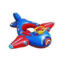 Baby Float, Botitu® Aerated Inflatable Swimming Floats for Babies Kids Infant Pool Float with Funny Airplane Design, Suitable for Children under 5 Years Old Kids Spring Float(random color)