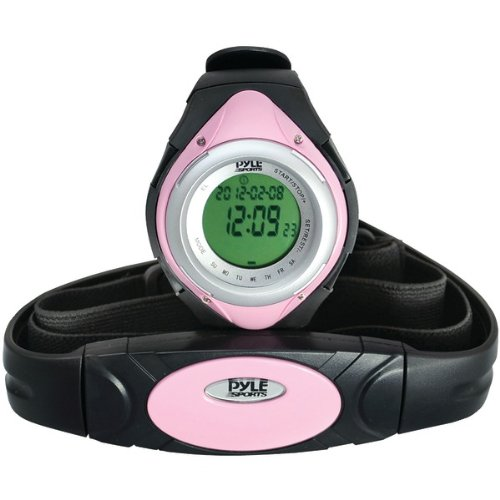 Pyle Sports Black/Pink Heart Rate Monitor
