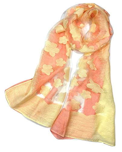 Shanlin Fashion Scarves for Women (Coral-Yellow)