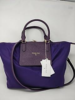 Borsa a spalla pelle lavorazione saffiano color Plume Violet tasca esterna chiusura lucchetto art 2V7341/A2XR-M263 Patrizia Pepe