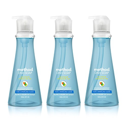 (Method Naturally Derived Dish Soap Pump, Sea Minerals, 18 Ounce (3 Count))