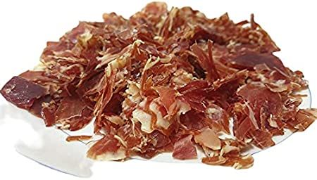 Virutas de jamón ibérico │ 2 tamaños │ Ideal para bocadillos y cocinar (8 bandejas 120 gr c/u)