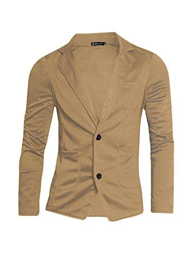 Allegra K Men Solid Color Small Pocket Upper Button Closure Fall Blazer M - Fall Blazers Mens
