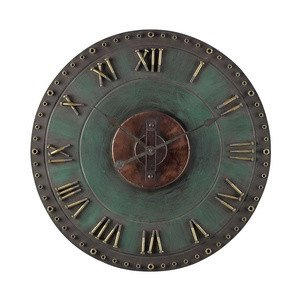 Sterling 128-1004 Metal Roman Numeral Outdoor Wall Clock, 32