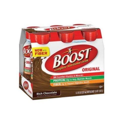 Chocolate Case Pack - Boost Original Rich Chocolate Nutritional Drink, 8 Fluid Ounce - 6 per pack - 4 packs per case.