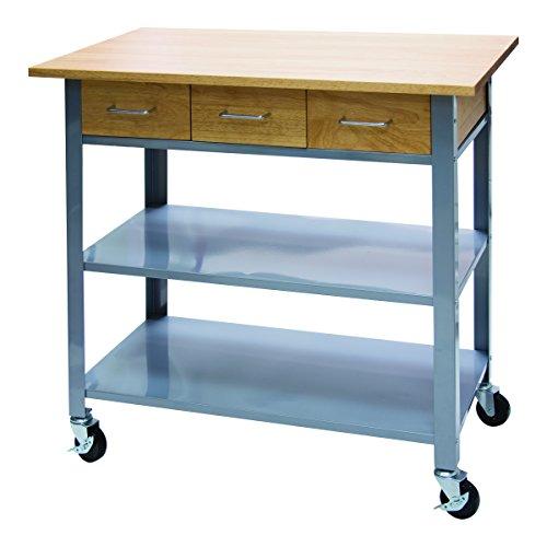 (Vertiflex Countertop Serving Cart with 3 Drawers/2 Shelves, 19.7