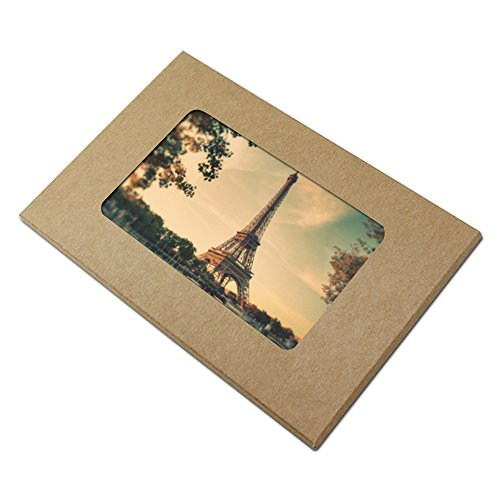 Visual Kraft Paper Postcard Packaging Box Merchandise Photo Card Display Holder Take Out Container Box With Window DIY Greeting Card Envelope Wrapping 10.2x15.5+0.5cm (4x6.1+0.2 inch) (20 Pcs, Brown) (Photo Art Holder Envelope)