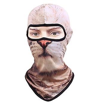 3D Animal Dog Outdoor Bicycle Cycling Ski Hat Balaclava Neck Hood FullFace Mask
