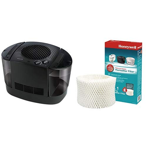Honeywell HEV685B Top Fill Console Humidifier, Black with  Humidifier Replacement Filter HC14 Series Filter E Antimicrobial Replacement Filter