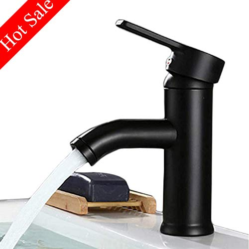 - Commercial ORB Single Handle Bathroom Sink Faucet One Hole Deck Mount Lavatory Matte Black