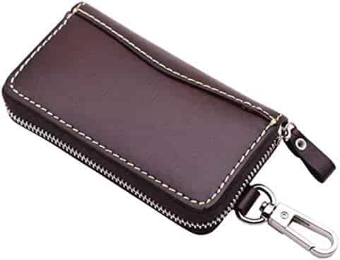 High Quality Men Genuine Leather Car Key Case Holder Housekeeper Weave Real Cowhide Key Accessories Key Holder Keychain Keyring Coin Purses & Holders Key Wallets