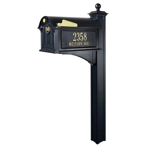 Balmoral Streetside Monogram Mailbox-Post Package