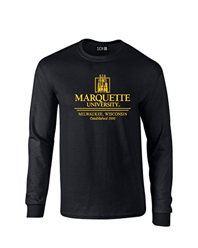NCAA Marquette Golden Eagles Classic Seal Long Sleeve T-Shirt, X-Large, Black (Ncaa Marquette Golden Eagles Seal)