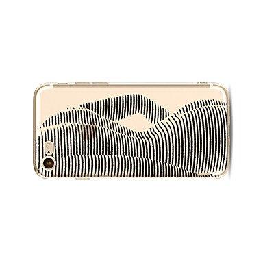 Fundas y estuches para teléfonos móviles, Caso para el iphone 7 más 7 tapa transparente de la contraportada del patrón de la caja señora atractiva tpu suave para el iphone 6s más 6 ( Modelos Compatibl IPhone 7 Plus