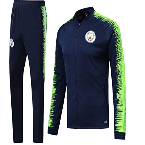 Sykdybz Club Long-Sleeved Jersey Football Uniform Suit Team Playing Competition Training Suit, Green, M ()