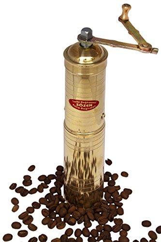 Sözen Degirmenleri - Klassische handgemachte manuelle Kaffeemühle Pfeffermühle Handmühle aus Messing nach türkischer Art - EL yapimi Kahve degirmeni (23cm)