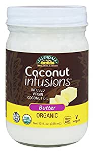 Coconut Infusions Butter Ellyndale Organics 12 fl oz Glass Jar