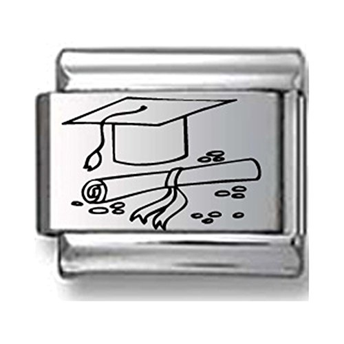 Cap and Diploma Laser Italian Charm