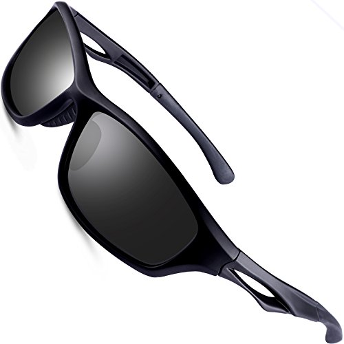 wearPro Sports Polarized Sunglasses for Men Sports Polarized Driving Sunglasses Super Light WP1004(matte/black)