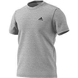 adidas Men's Training Ultimate Short Sleeve Tee, Medium Grey Heather, Medium