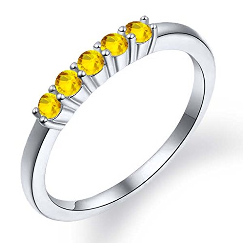 043-Ct-Round-Natural-Yellow-Sapphire-925-Sterling-Silver-Anniversary-Band-Five-Stone-Anniversary-Wedding-Band
