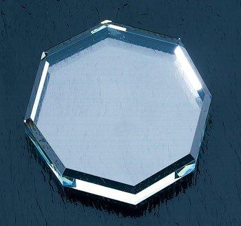 Octagon Starfire Glass Paperweight - Octagon Paperweight