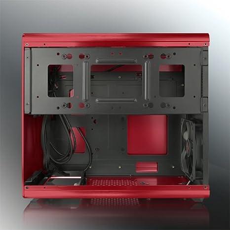 4775e5a12e Amazon | RAIJINTEK 外装にアルミニウムを採用したμATX規格マザーボード対応のキューブ型PCケース 0R200026(STYX  RED) | RAIJINTEK | パソコン・周辺機器 通販