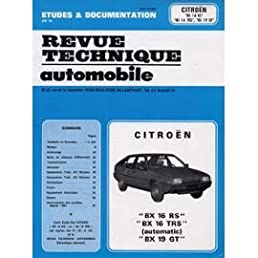 revue technique de l automobile vv citro n bx 16 rs et 16 trs rh amazon com