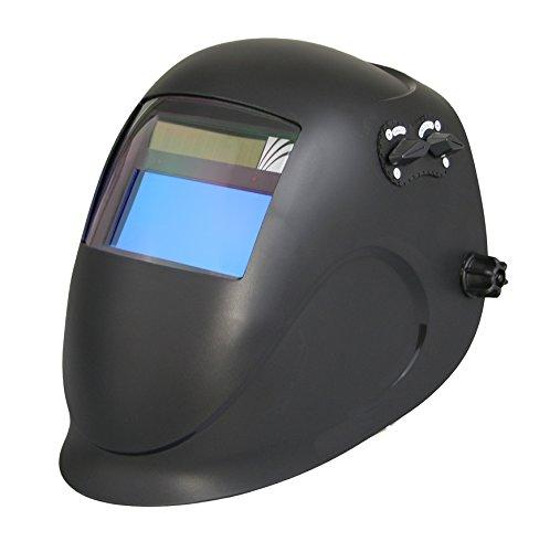 ArcOne Python Welding Helmet Professional Grade with 5000V Auto Darkening Filter (Black)