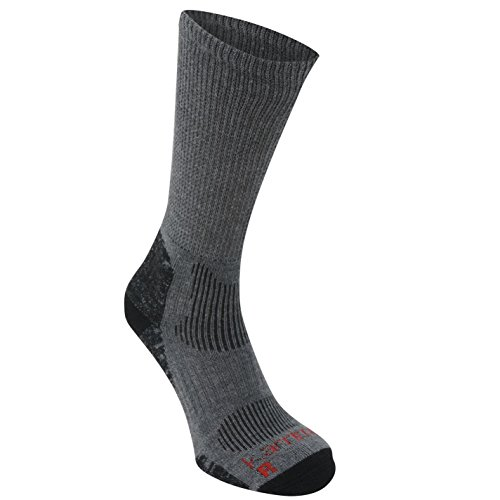 Karrimor Mens Merino Fibre Lightweight Walking Socks Casual Grey/black Mens 12+