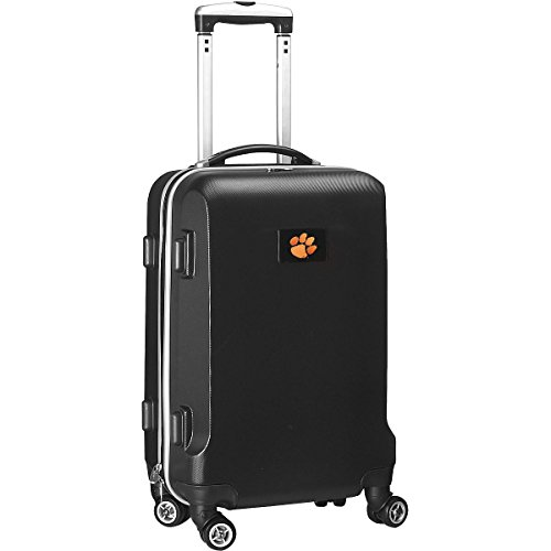 Denco NCAA Clemson Tigers Hardcase Domestic Carry-On Spinner, Black, 20-Inch from Denco