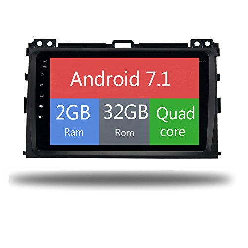 Car GPS Radio Android 7.1 Stereo 2 Din Unit Navi for Toyota Prado Cruiser 120 2004-2009 Permanent Radio Headunit WiFi Head Device Map Navigation (Android 7.1 2+32G for Toyota Prado)