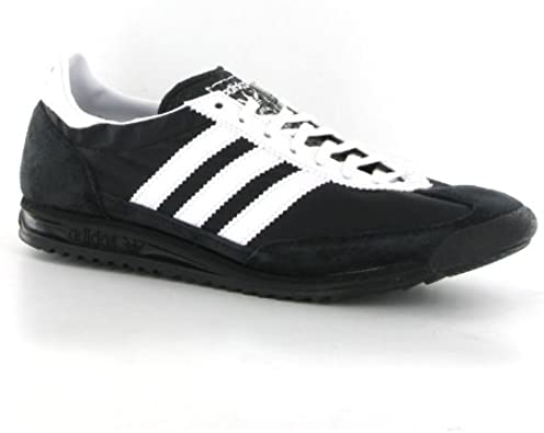 regular Alfombra Siesta  adidas SL72 Black White Suede Mens Trainers: Amazon.co.uk: Shoes & Bags