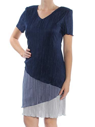 (Connected Women's Tricolor Bodre Dress (8, Midnight))