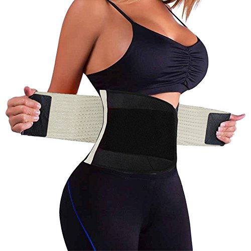 Wonder-beauty Women's Waist Trainer Belt Sport Girdle Shaperwear Waist Cincher Beige XL (Fit 43