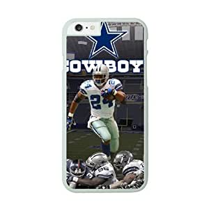 iPhone 6 White Cell Phone Case Dallas Cowboys NFL Customized Design Phone Case Cover NLYSJHA1681