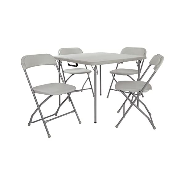 e581265fcab Office Star Resin Multi-Purpose Sqaured Folding Chair with Grey Accents