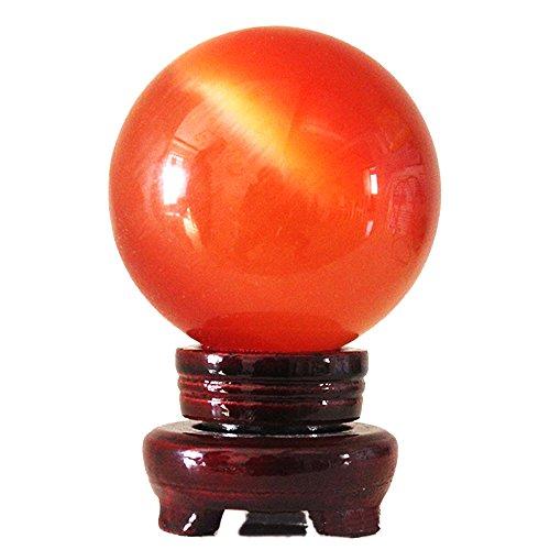 MIKINI Carved Sphere Statue Figurine