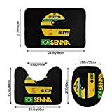 Ayrton Senna Formula 1 Helmet 3 Piece Set Bath