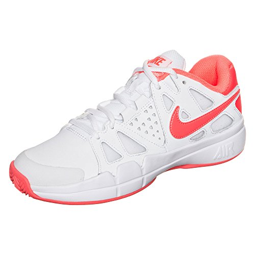 Nike W Air Vapor Advantage Cly, Zapatillas de Tenis para Mujer Blanco (White / Bright Mango-Atomic Pink)