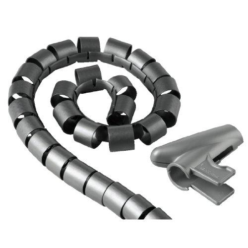 Hama Kabelschlauch Easy Cover (Spiralschlauch mit Einfädelhilfe, Länge 2,5 m, Durchmesser 20 mm) silber