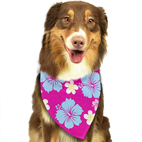 Pet Dog Bandana Scarf Pack Triangle Bibs Hawaiian Party Flower Print Printing Kerchief Set Accessories for Small to Large Dogs Cats Pets -