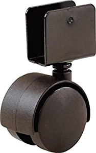 Shepherd Hardware 9401 1-5/8-Inch Office Chair Caster, Twin Wheel, 1-1/2-Inch Sq. Plate, 40-lb Load Capacity, 2-Pack