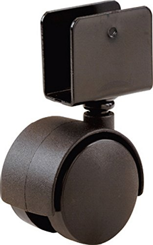Shepherd Hardware 9420 1-5/8-Inch Office Chair Caster, Twin Wheel, 11/16-Inch U-Bracket, 40-lb Load Capacity, 2-Pack