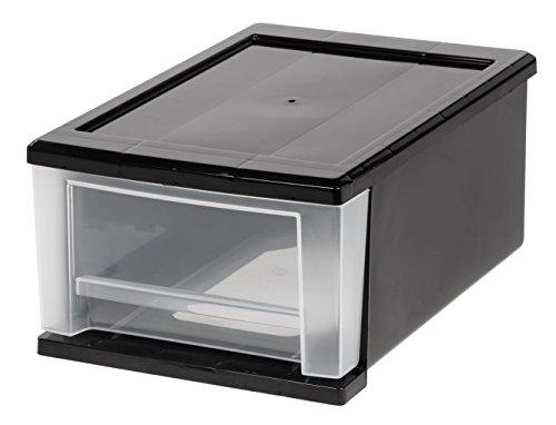 IRIS 7 Quart Stacking Drawer, Black